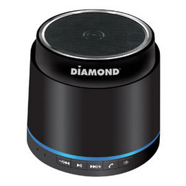 Diamond MSPBT300B Mini Rockers Black Bluetooth Portable Speaker