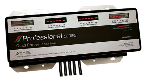 Dual Pro Ps4 15 Amp Bank Professional Series 4 Bank Charger