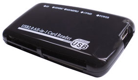 Element CR-211-BK All-in-One USB 2.0 Card Reader