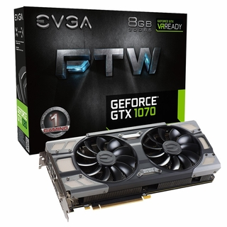 EVGA GeForce GTX 1070 DirectX 12 08G-P4-6276-KR 8GB 256-Bit GDDR5 PCI-E 3.0 HDCP Ready SLI Support FTW GAMING ACX 3.0 Video Card
