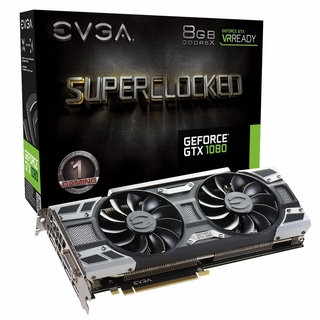 EVGA GeForce GTX 1080 SC GAMING ACX 3.0, 08G-P4-6183-KR, 8GB GDDR5X, LED, DX12 OSD Support (PXOC) Graphics Card