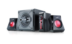 Genius SW-G2.1 1250 2.1Ch 4-Piece Gaming Speakers w/ Subwoofer