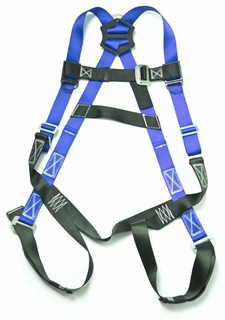 Gulfe 5-point Adjustable Safety Harness Pass Through Legs Black/Blue