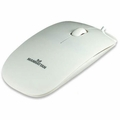 Manhattan 177627 Silhouette Optical Mouse - Wired USB (White)