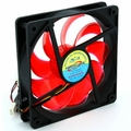Masscool FDV12025L1L34 25.0 dBA 3/4-Pin 120mm Case Fan (Red)