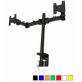 Monmount Dual LCD Monitor Stand desk clamp holds up to 24