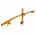 Monmount LCD-2230-ORG Orange Curved Triple LCD Monitor Arm Mount