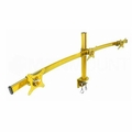 Monmount LCD-2230-YEL Yellow Curved Triple LCD Monitor Arm Mount