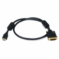 MonoPrice 2661 3ft 28AWG High Speed HDMI to Adapter DVI Cable with Ferrite Cores, Black