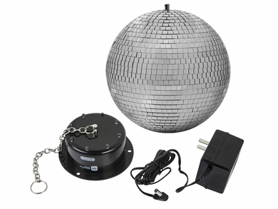 MonoPrice 612265 10-inch Mirror Ball & Motor with LED Lights