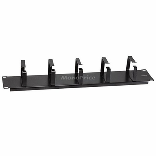 MonoPrice 7309 3.5 Inch Metal D-Ring Network Cable Management Bar