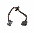 MonoPrice 8793 12inch 4pin MOLEX Male to (2) 15pin SATA II Female Power Cable (Net Jacket)