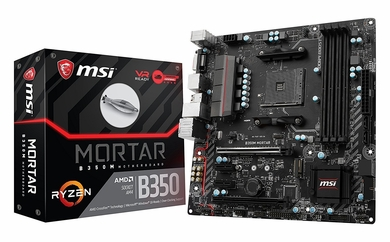 MSI B350M MORTAR AM4 AMD B350 SATA 6Gb/s USB 3.1 HDMI Micro ATX Motherboard