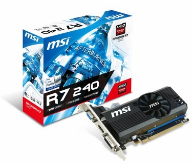 MSI R7 240 2GD3 LP Radeon R7 240 2GB DDR3 PCI-e x16 3.0 Video Card