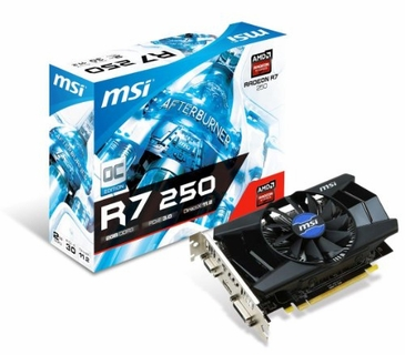 MSI R7 250 2GD3 OC Radeon R7 250 2GB DDR3 DVI-I HDMI Video Card