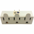 Professional Cable 3-TAP 3 Outlet 3 Prong Wall Tap