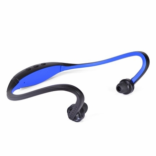 Sporty Behind-the-Neck Bluetooth v3.0 Wireless Earphones Headset Blue/Black
