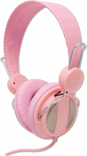 Syba Pink Computer Headset with Microphone, 5-foot Cord