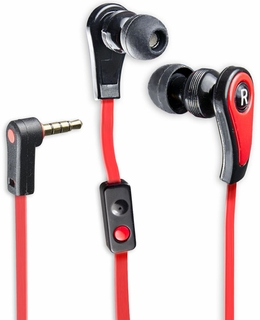 Syba Premium Sound Red/Black In-Ear Earbuds with In-Line Microphone