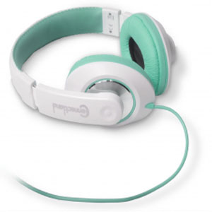 Syba Over-the-Head DJ Style Headphones (White/Teal)