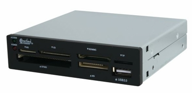 "Syba CL-CRD20036 USB Internal 6-Port Card Reader for 3.5"" Drive Bays"