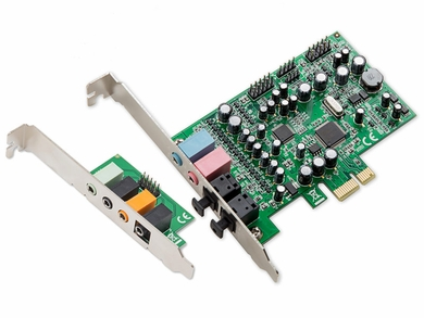 Syba 7.1 Surround Sound PCI-e Audio Card with Spdif Input/Output