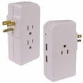 Tech Universe TU1522 1050 Joules 3-Outlet Surge Protector w/2 USB Charging Ports (Beige)