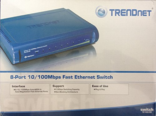 Trendnet te100 s8 8 port 10 100mbps fast ethernet switch - 8 port fast ethernet switch ...
