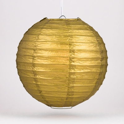 10 Inch Gold Round Paper Lantern Even Ribbing Hanging Decoration On Now Chinese Lanterns At Bulk Whole Best Prices
