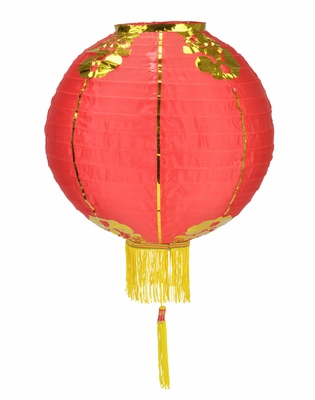 10 Inch Red Traditional Nylon Chinese Lantern W Tassel On