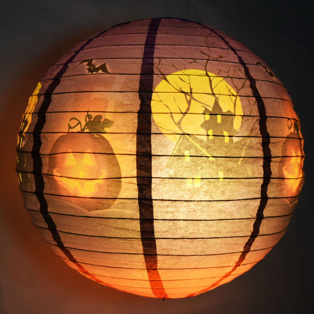 12 haunted house halloween paper lantern on sale now at for Best craft light reviews