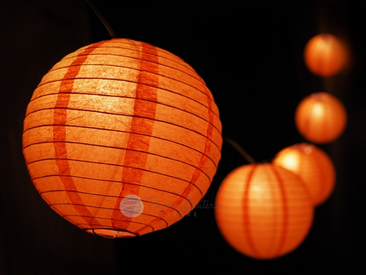 paper lanterns with lights 16 quot o lantern pumpkin paper lantern string 30451