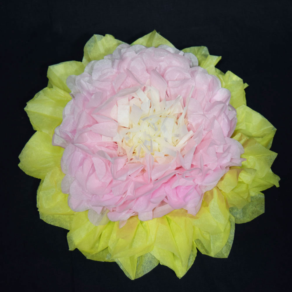 16 Multi Color Tissue Paper Flower Decorations Pink Combo 3 Pack