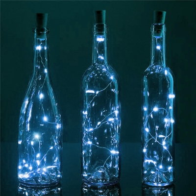 Fairy String Lights Submersible Waterproof Battery Pack Led Cool White : 20 Cool White LED Cork Wine Bottle Lamp Fairy String Light Stopper, 40-Inch on Sale Now! At Best ...