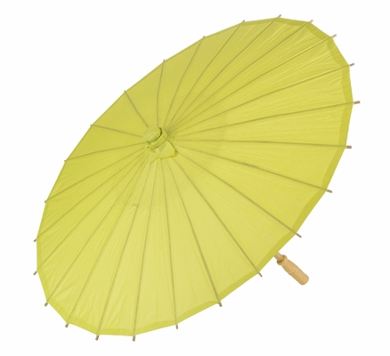 20 Quot Chartreuse Paper Parasol Umbrellas On Sale Now