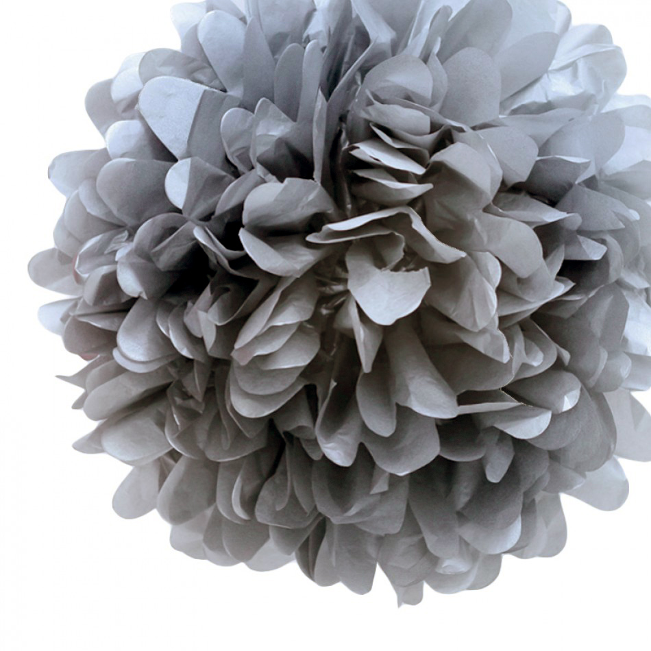 12 charcoal gray tissue paper pom poms flowers balls decorations 712395866634 mightylinksfo Choice Image