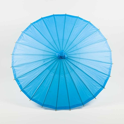 28 Inch Turquoise Paper Parasol Umbrellas On Sale Now