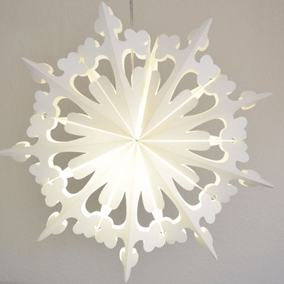 23 Quot White Winter Clover Snowflake Paper Star Lantern