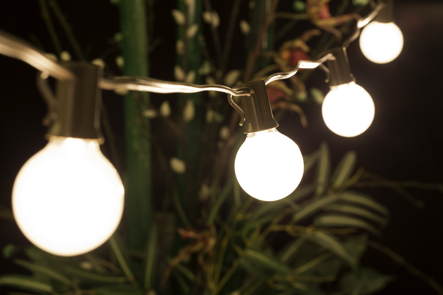 Globe String Lights White Cord : 25 Socket Outdoor Patio String Light G40 Frosted Globe Bulbs, 28 FT Brown Cord eBay
