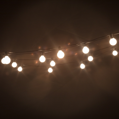 25 Socket Holiday Outdoor Patio String Light Set G40
