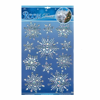 3 D Pop Up Frozen Christmas Snowflake Prismatic Sticker