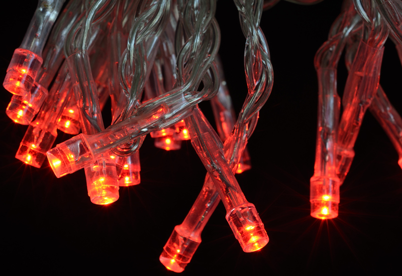 String Lights Red : 30 LED Red Mini String Lights, 10.8 FT Clear Cord, Battery Operated eBay