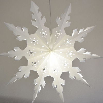 24 Quot White Winter Peppermint Snowflake Paper Star Lantern