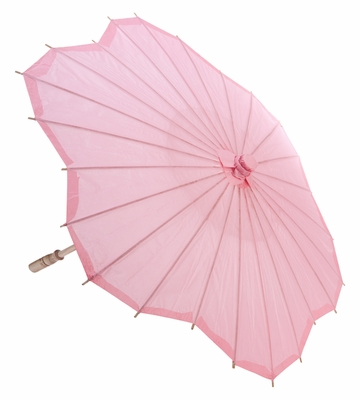 32 Quot Pink Scallop Shaped Paper Parasol Umbrellas On Sale