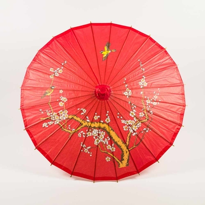 32 Inch Red Cherry Paper Parasol Umbrellas On Sale Now
