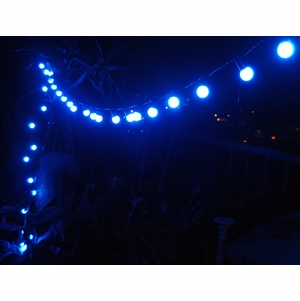 50 Blue LED Large Ball String Lights (17FT, Black Cord) on Sale Now! Plug In String Lights Cheap ...