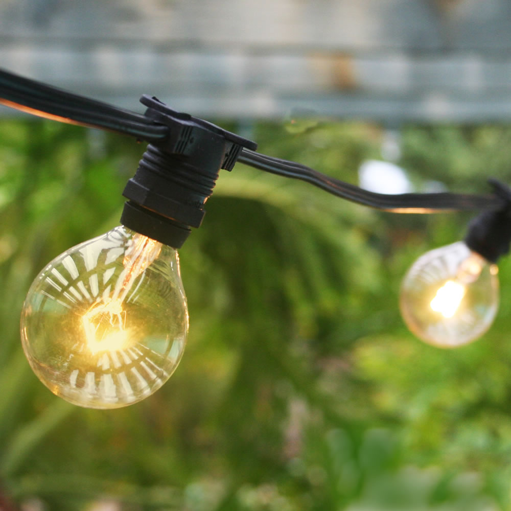Commercial Outdoor Kitchen: 50 Socket Outdoor Commercial String Light G40 Globe Bulbs