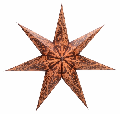 7 Point Terracotta Fantasy Paper Star Lantern Hanging