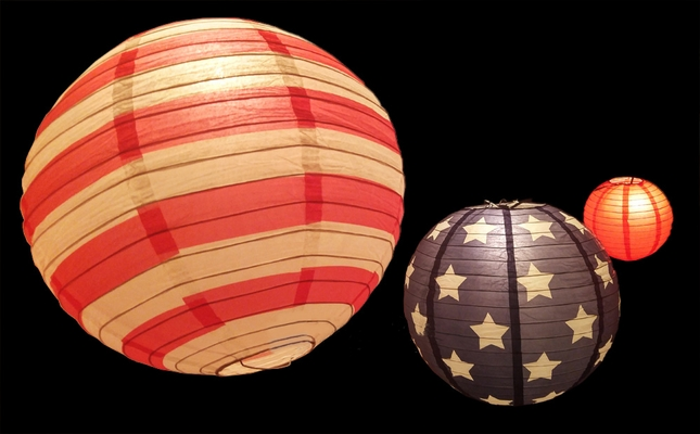 8 12 14 Quot 4th Of July Red White And Blue Round Paper