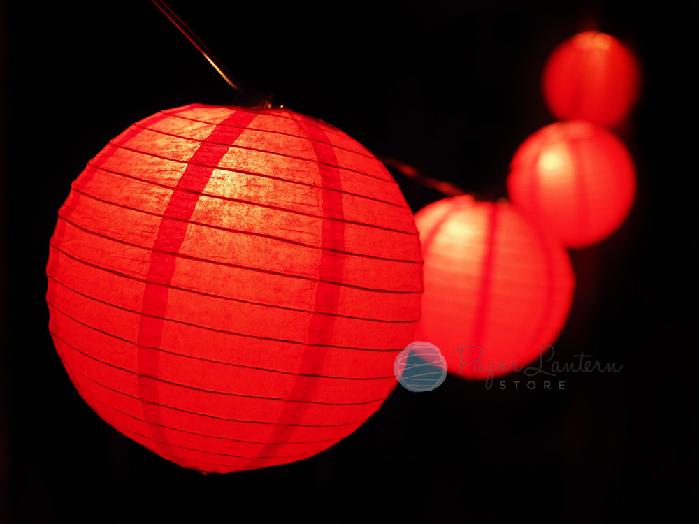 Details About 8 Chinese New Year Paper Lantern String Light 12 Ft Black Cord